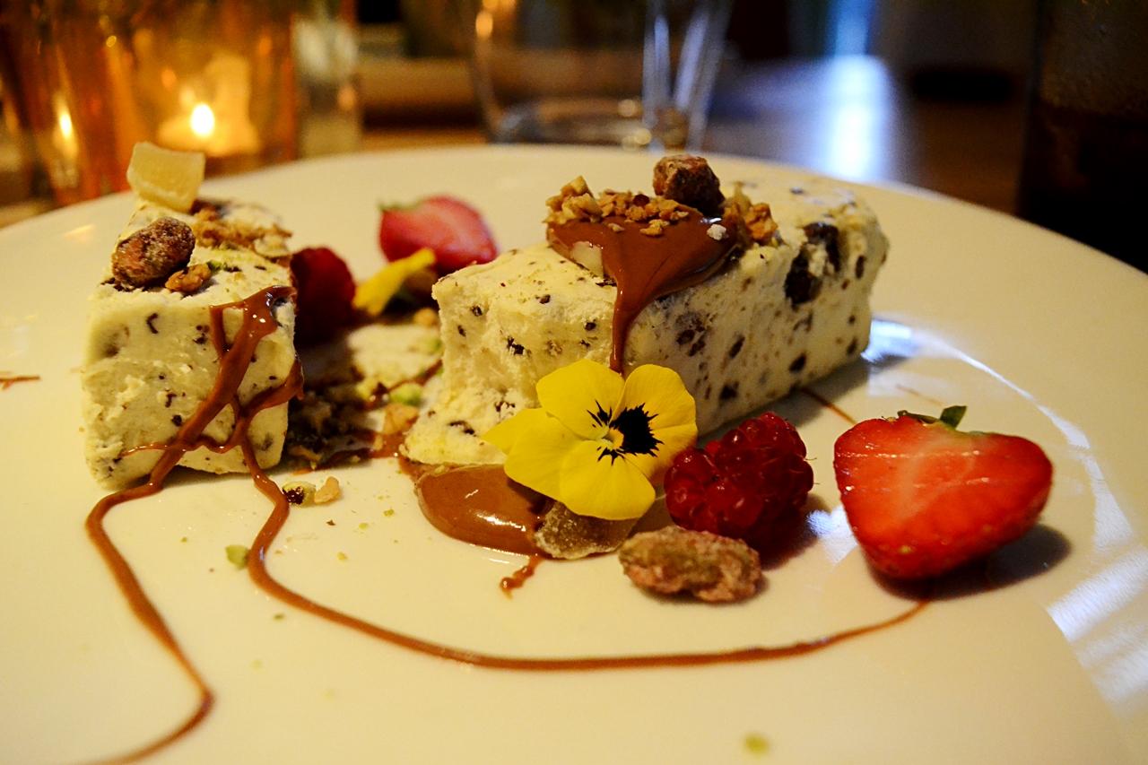 praline parfait dessert george's french menu worsley