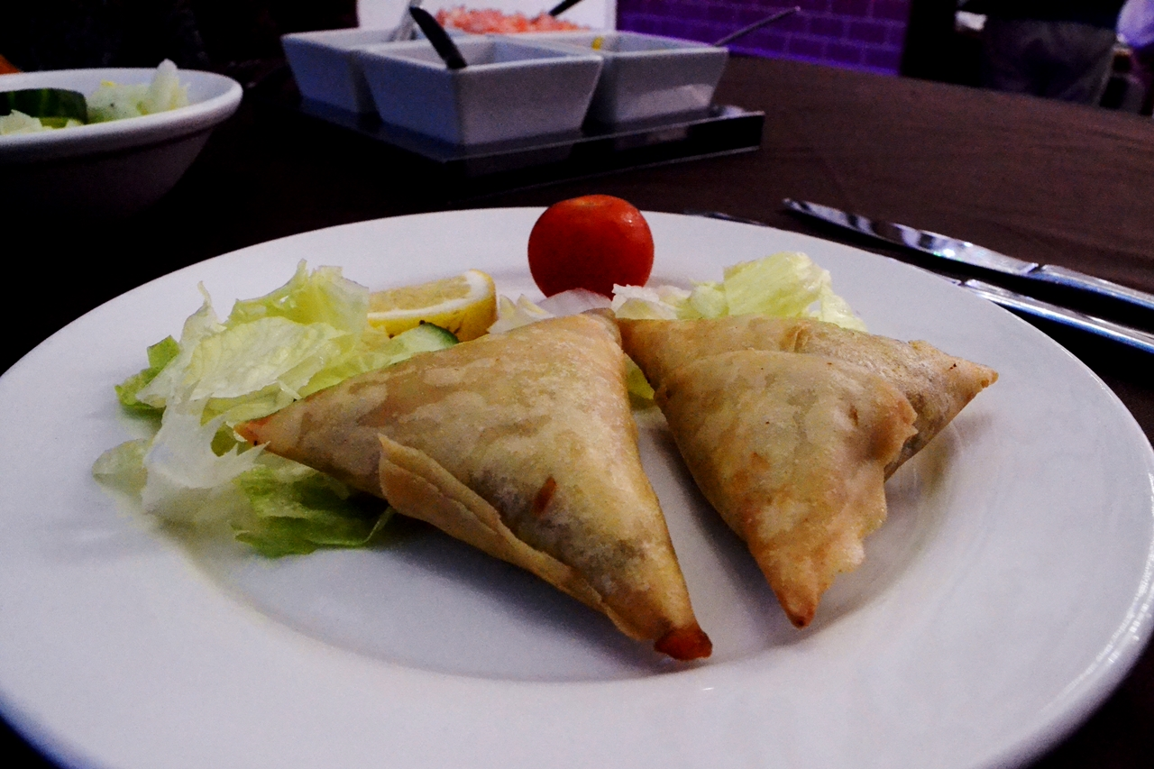 meat samosas purple lounge walkden