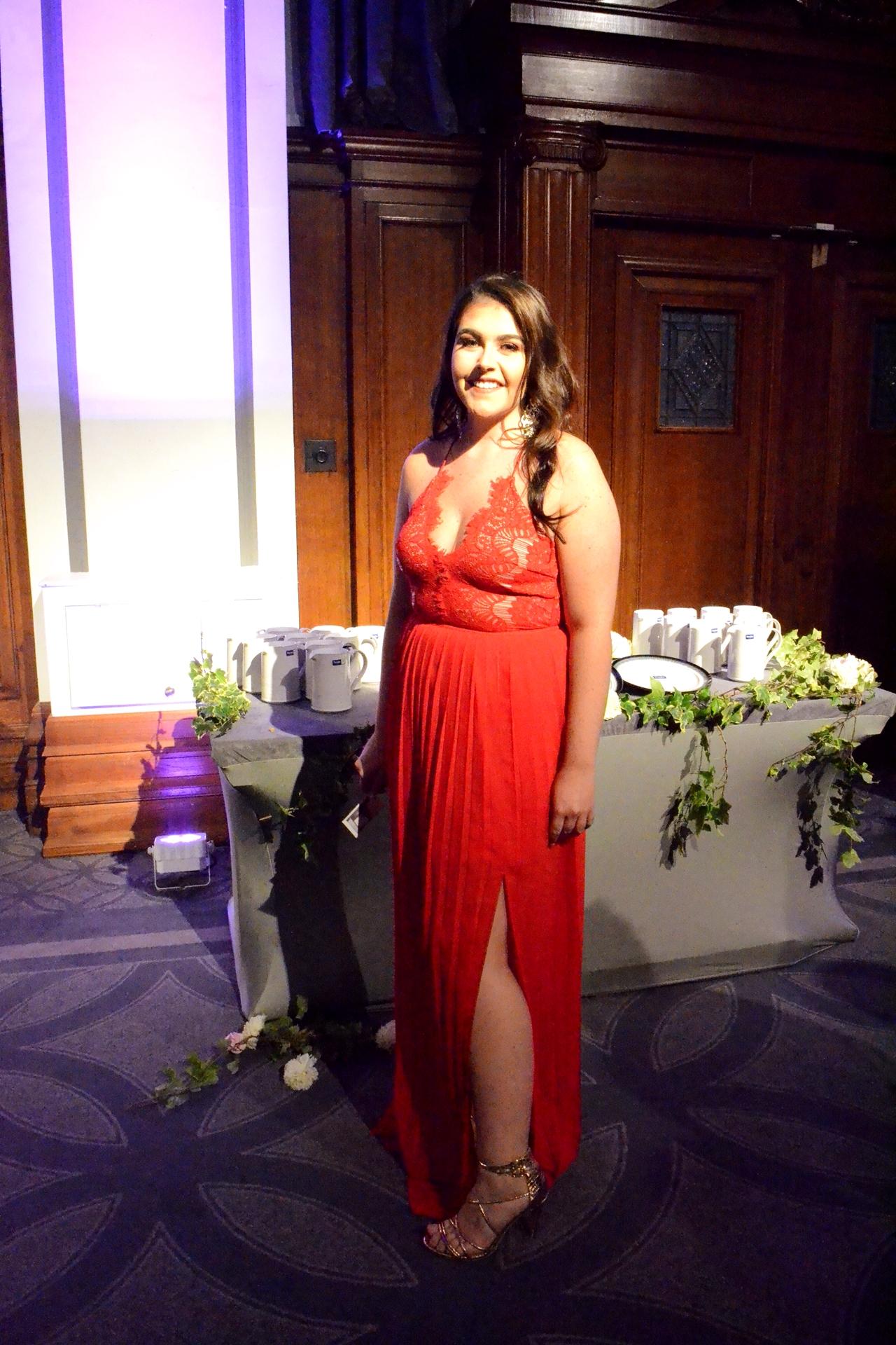 northern blog awards red maxi dress evening