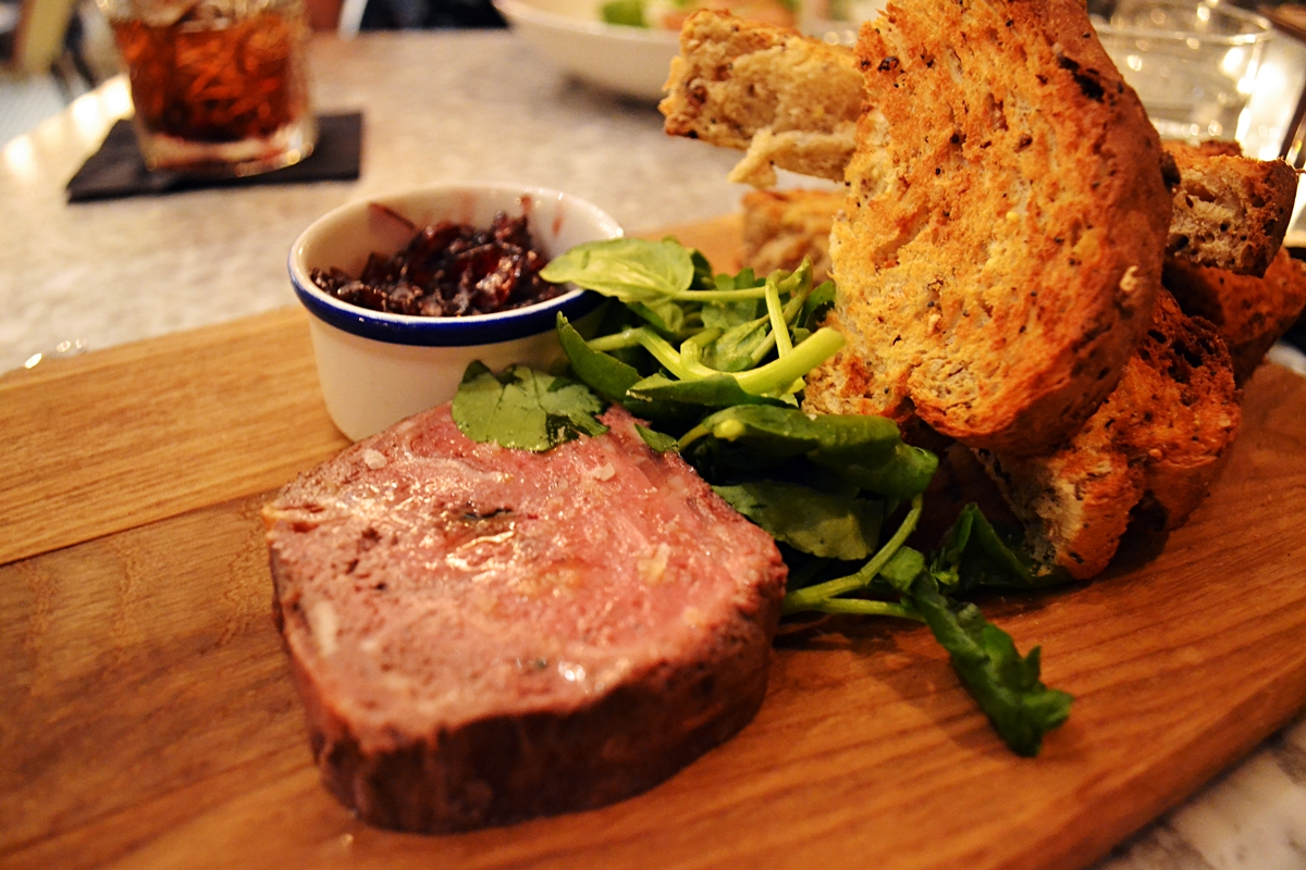 Pork, Apricot and Hazelnut Terrine, Chutney, Toasted Sourdough £6.95 lost and found knutsford