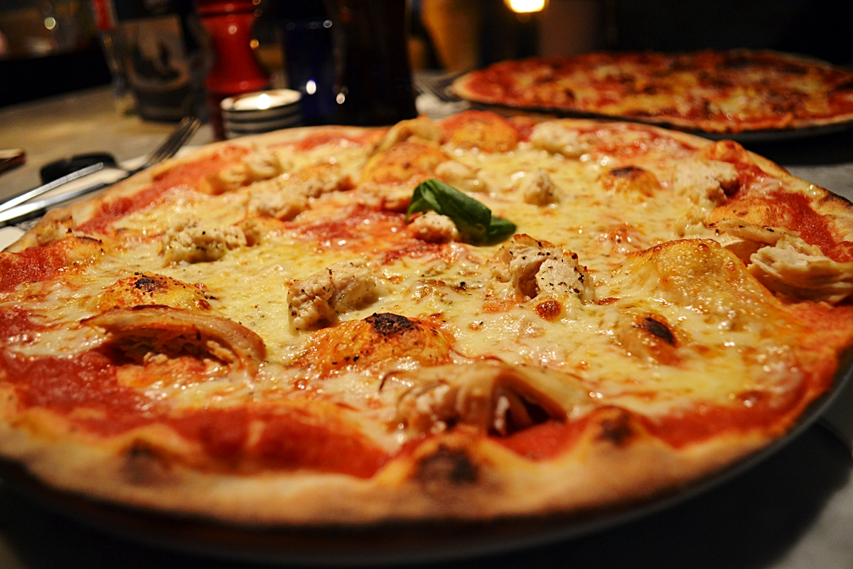 pizza express margherita extra chicken romana