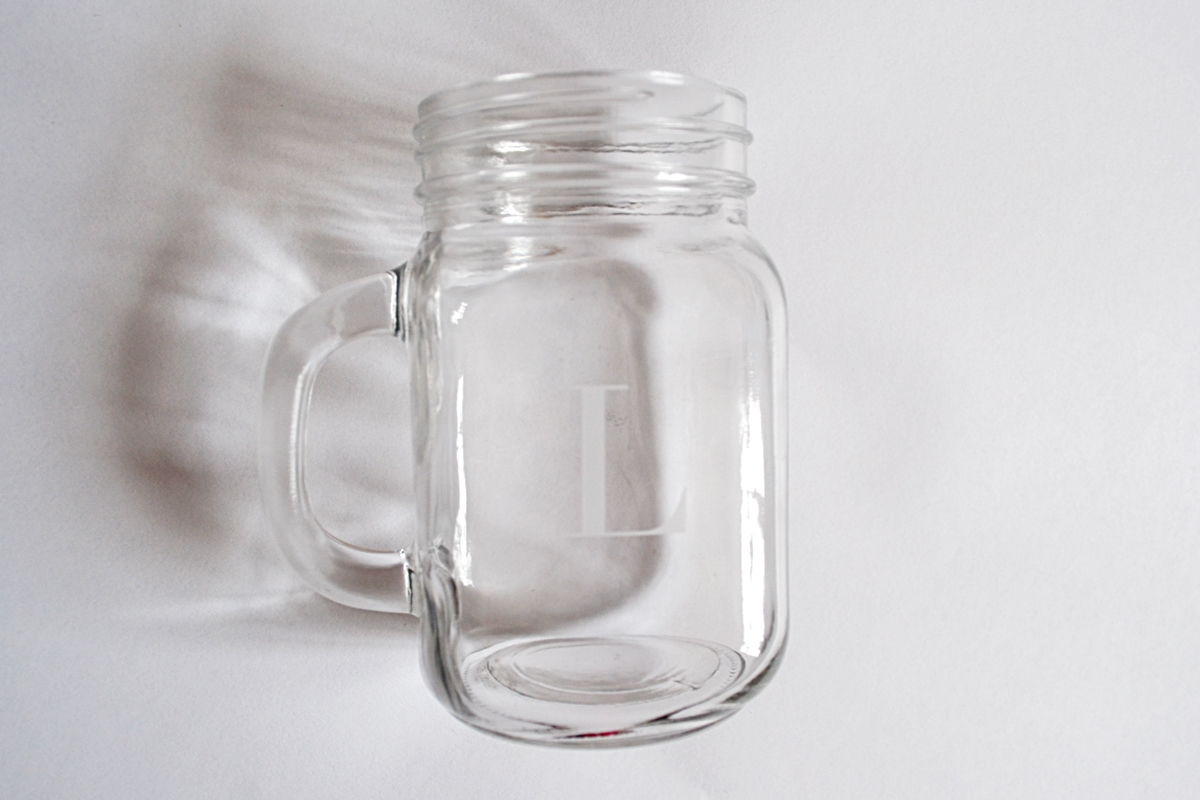 initial jar glass from getting personal