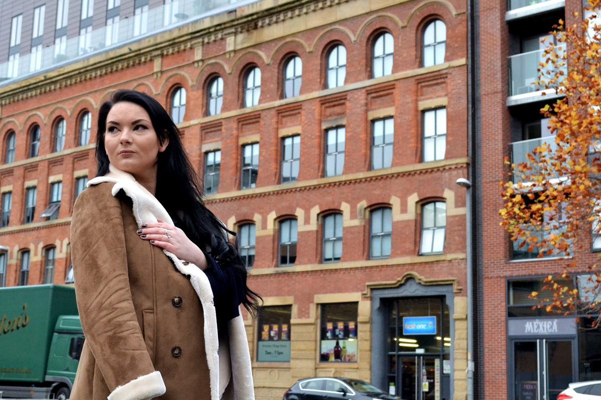 emma she wears sea shells manchester blogger new look coat