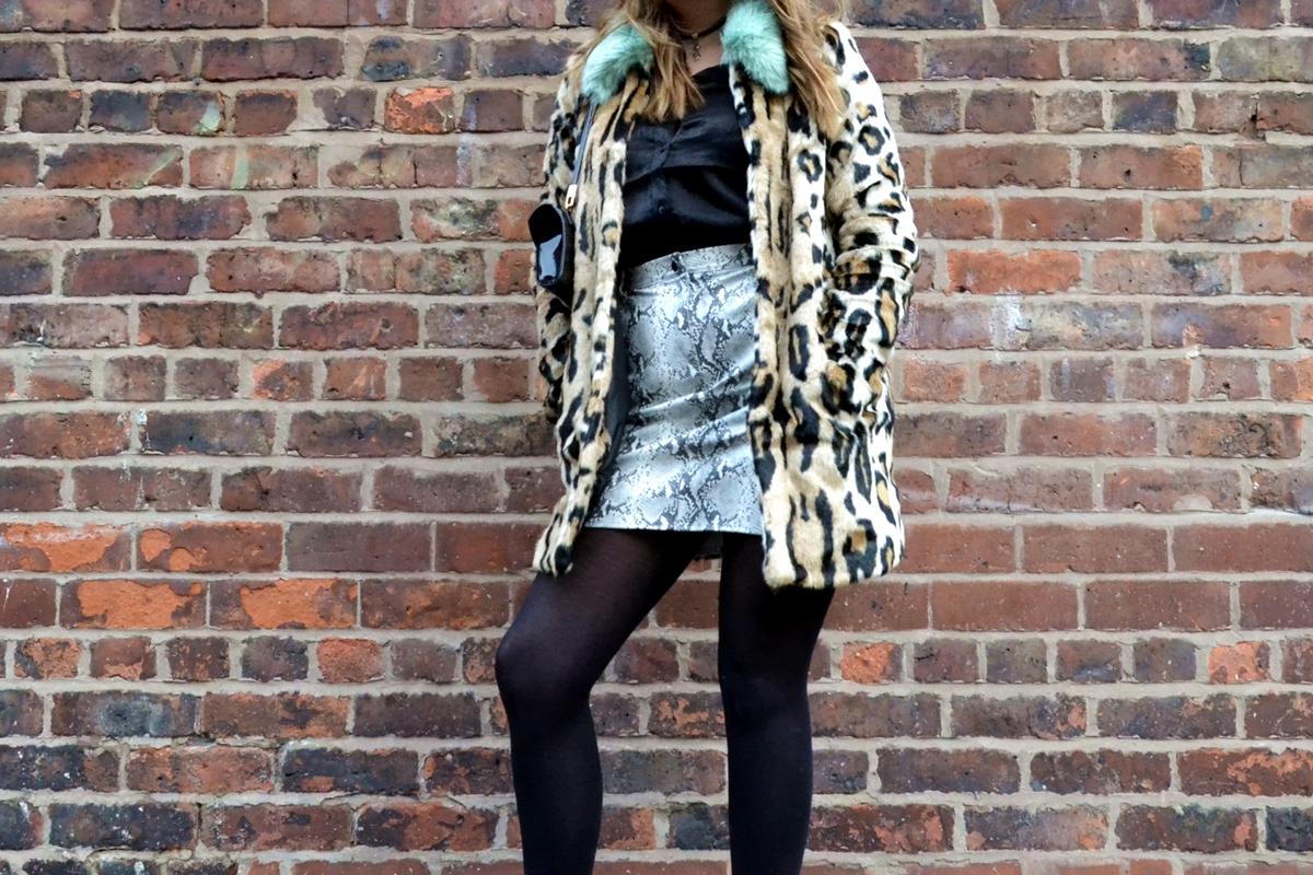 Trend Editorial: Texture Clashing Confidence urbancode london asos missguided hm fashion satin faux fur leopard print coat