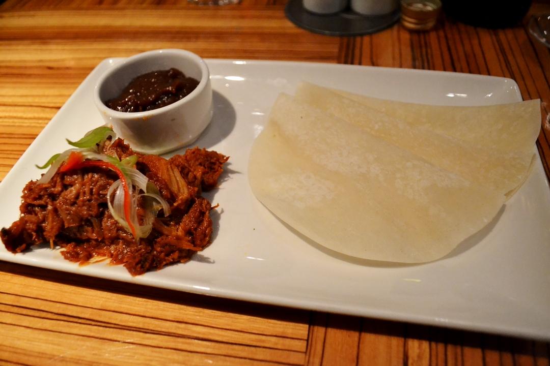 pulled pork chinese style pancakes lime restaurant starter