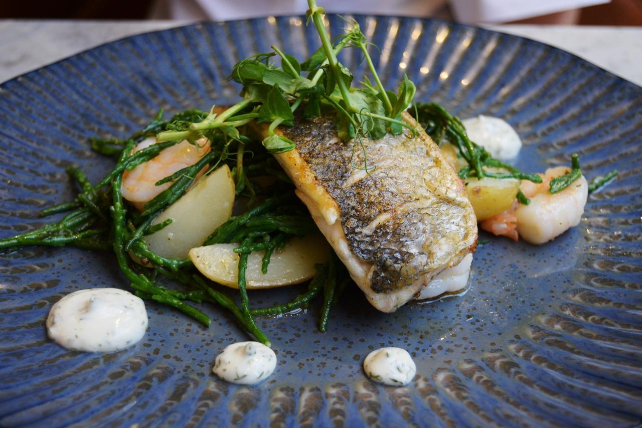 pan fried sea bass muse restaurant manchester