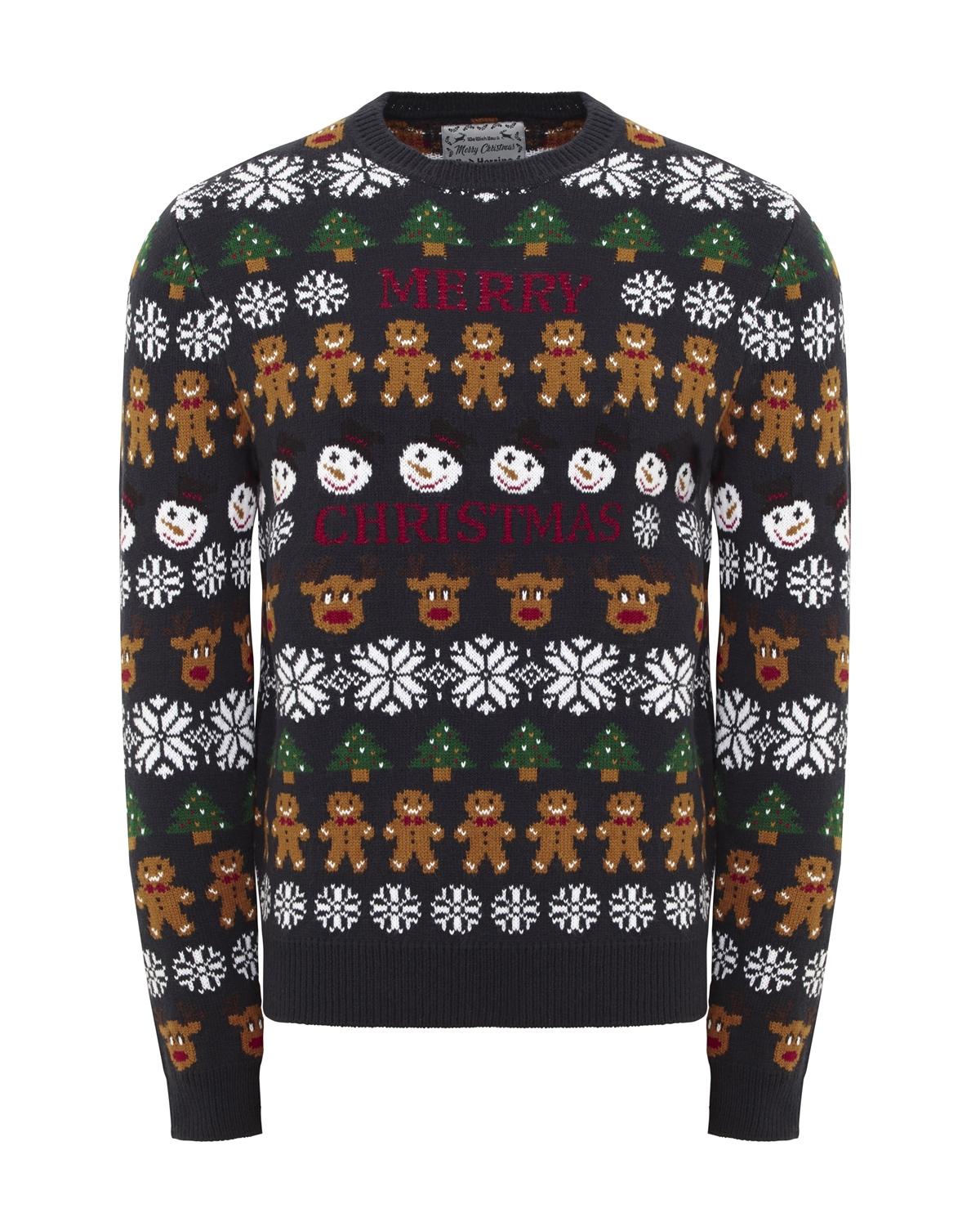 red herring at debenhams christmas jumper reindeer rudolph gingerbread man patterned knit