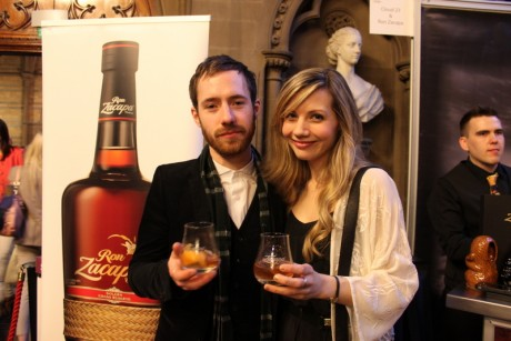 STYLEetc Editor Gemma Latham with Ryan Hayes at Cocktails In The City