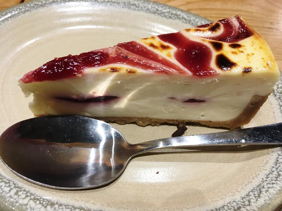 nandos manchester picadilly dessert white chocolate raspberry swirl cake