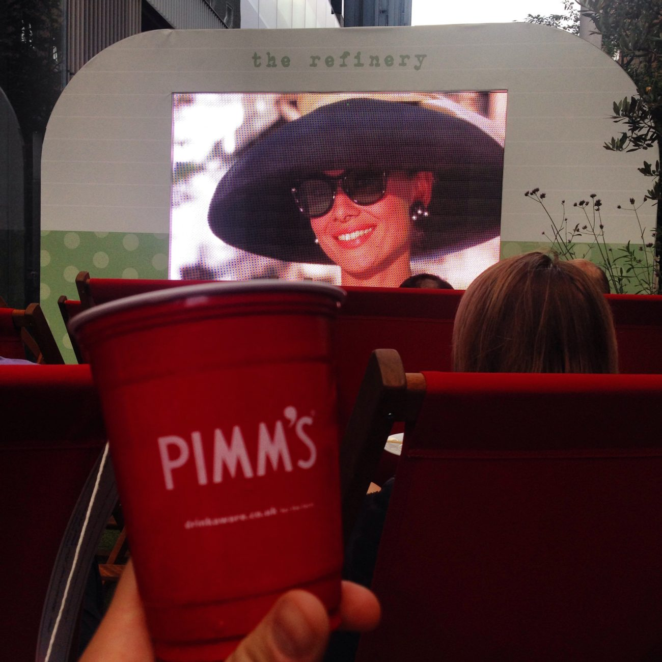 Pimms on the Bankside at The Refinery Bar, London