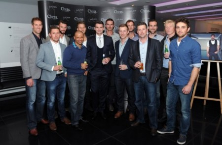 James Anderson with his Lancashire County Cricket Club team mates
