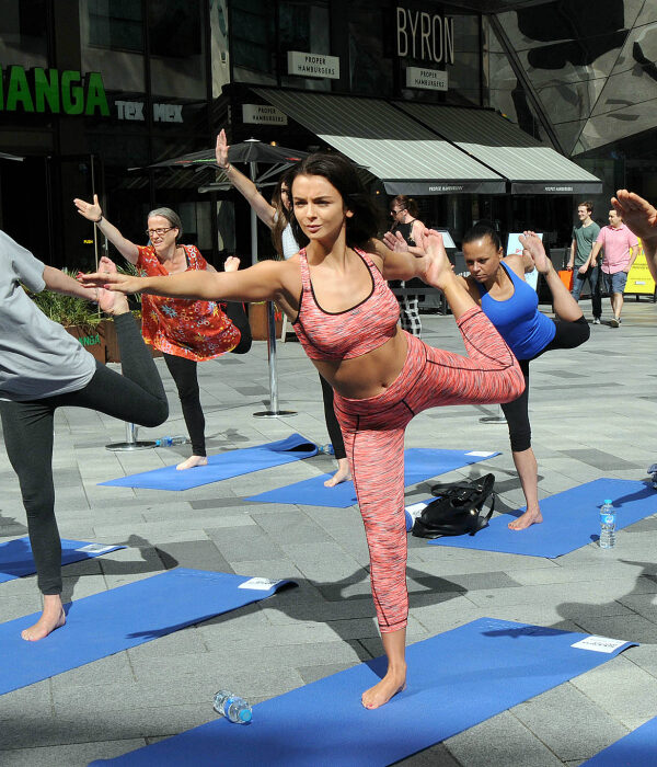 Love Island's Kady McDermott co-hosts Serene Shopping Yoga at Highcross Leicester