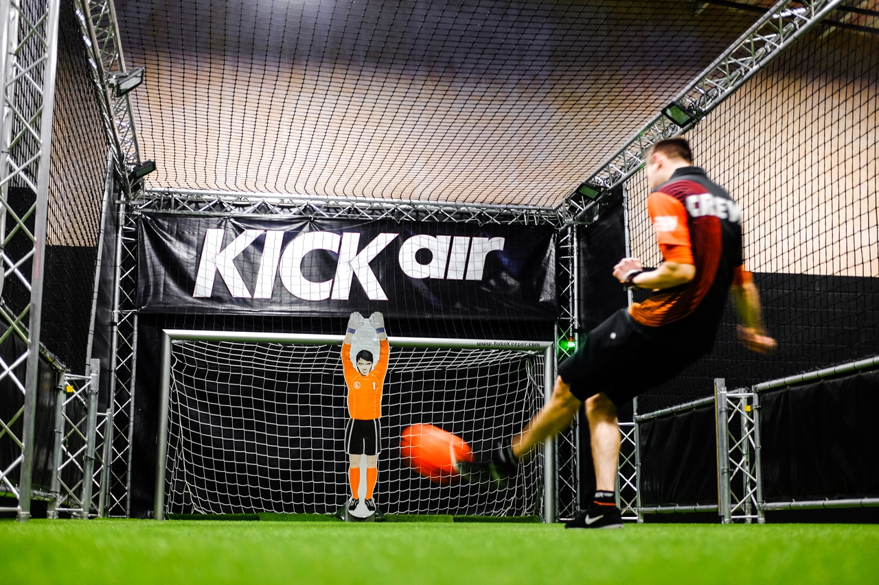 football games kickair robot goalkeeper manchester