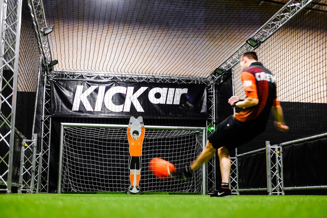 football games kickair robot goalkeeper manchester