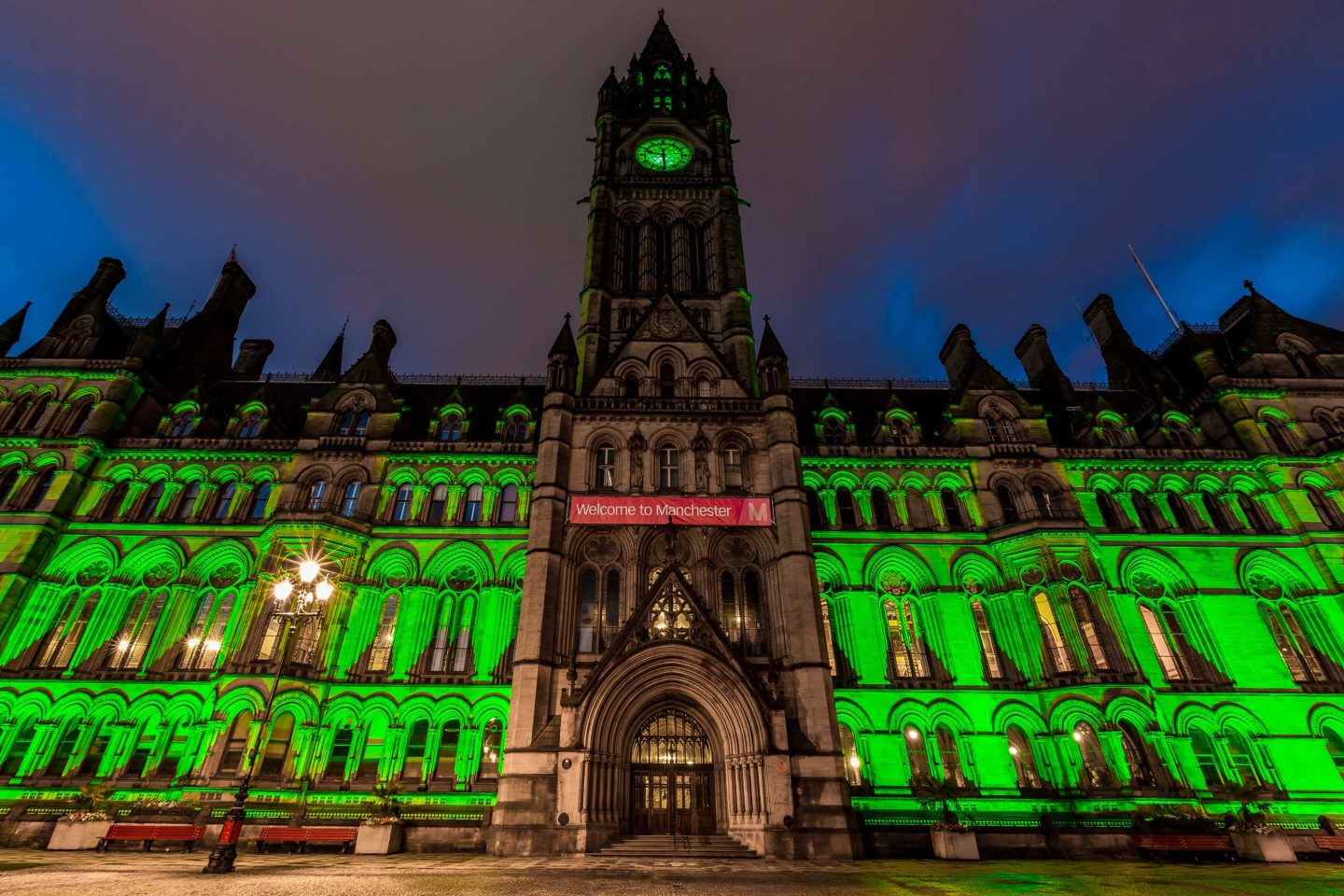 Halloween in the city Manchester
