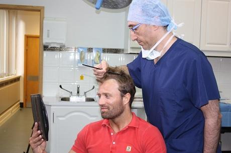 Michael Gray and Bessam Farjo post-surgery