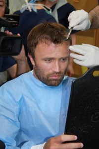 Michael Gray post-surgery