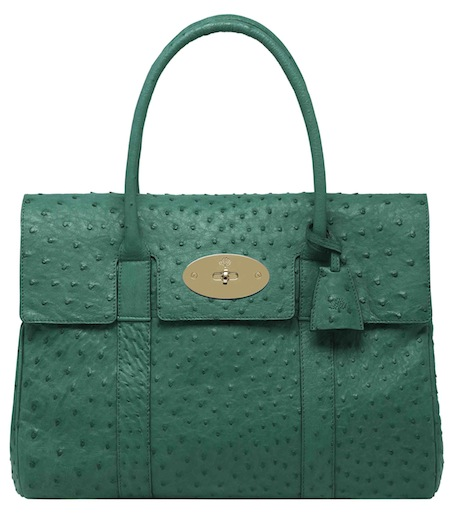Mulberry Bayswater in Emerald Ostrich