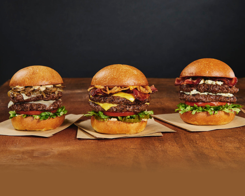 burgers from hard rock cafe pinktober