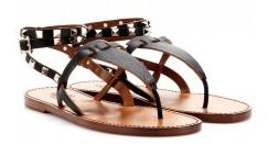 Rockstud-Double-leather-sandal