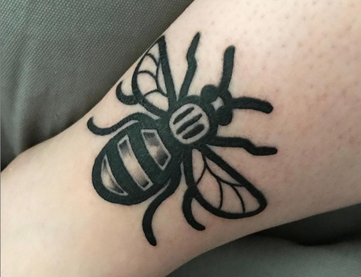 manchester bee tattoo