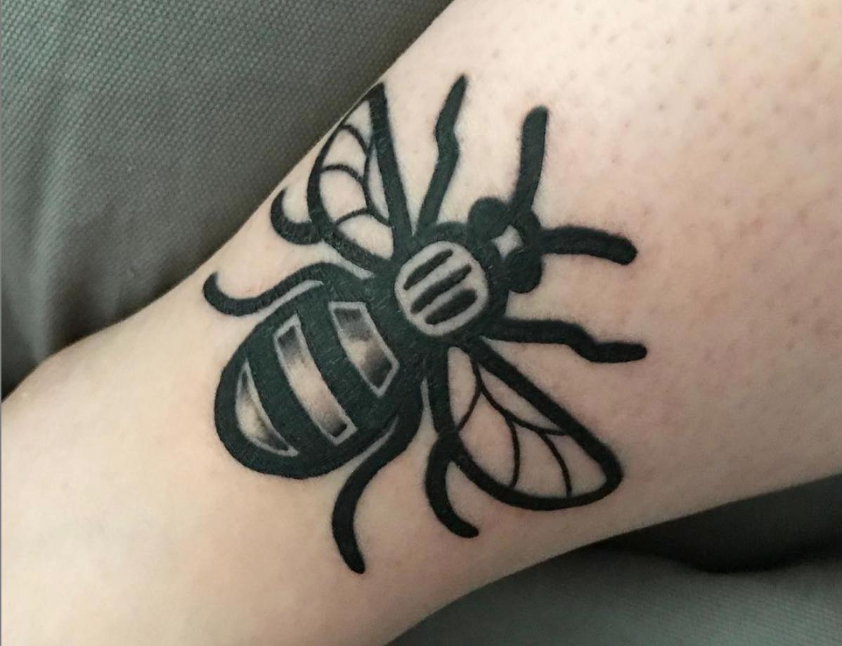 manchester bee tattoo