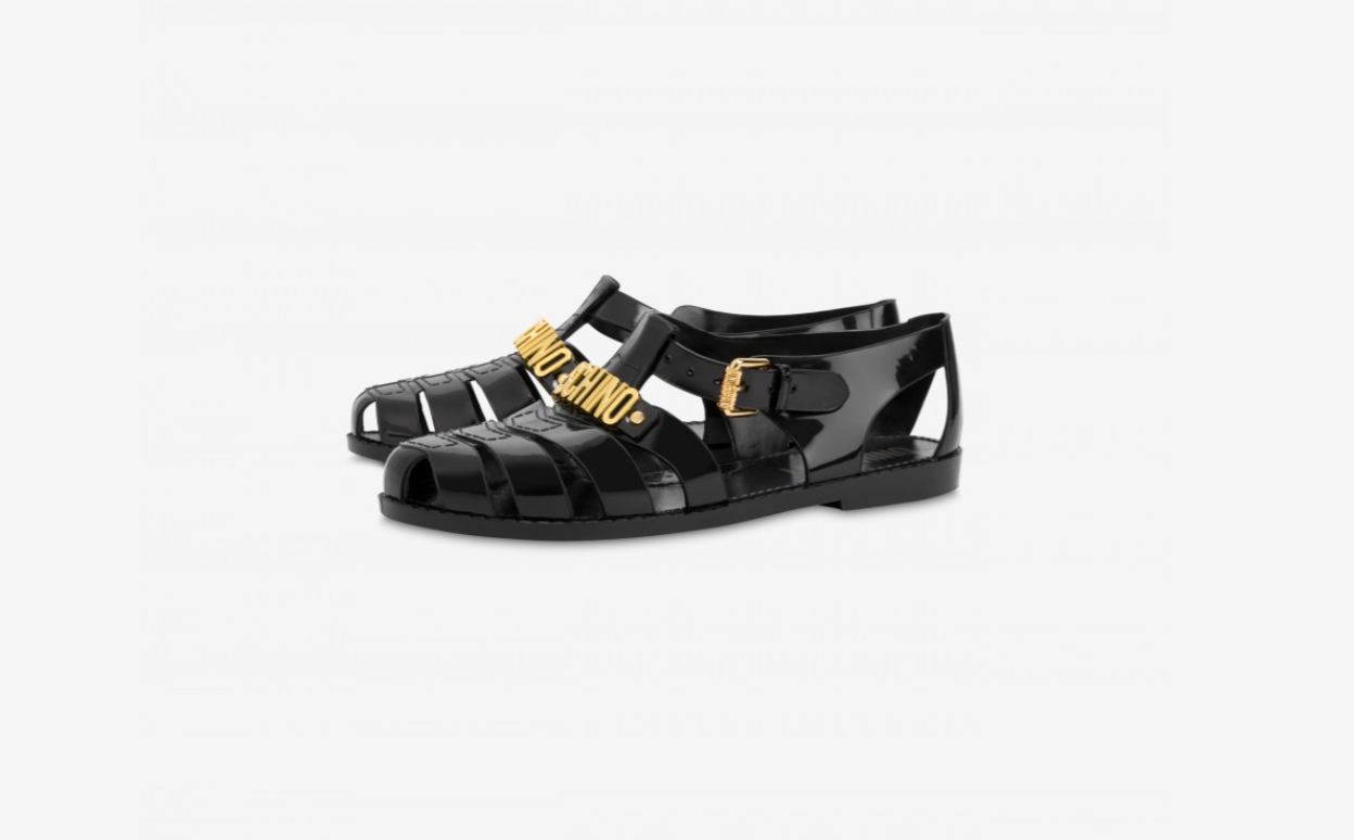 moschino jelly shoes