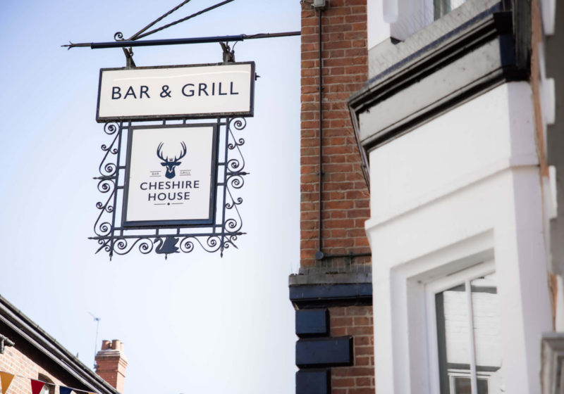 cheshire bar grill sign