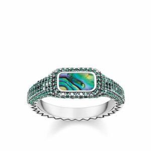 "RING ""PLAY OF COLOURS GREEN"" thomas sabo"