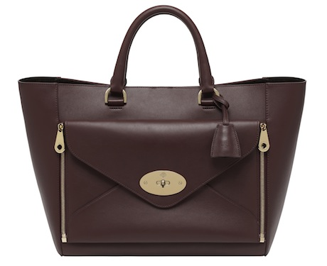 Willow Tote in Oxblood Classic Calf
