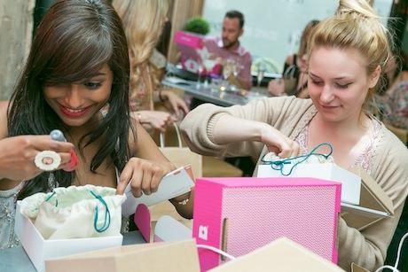 Yelp Manchester's Shrimoyee Chakraborty with Rococo PR's Annie Warren