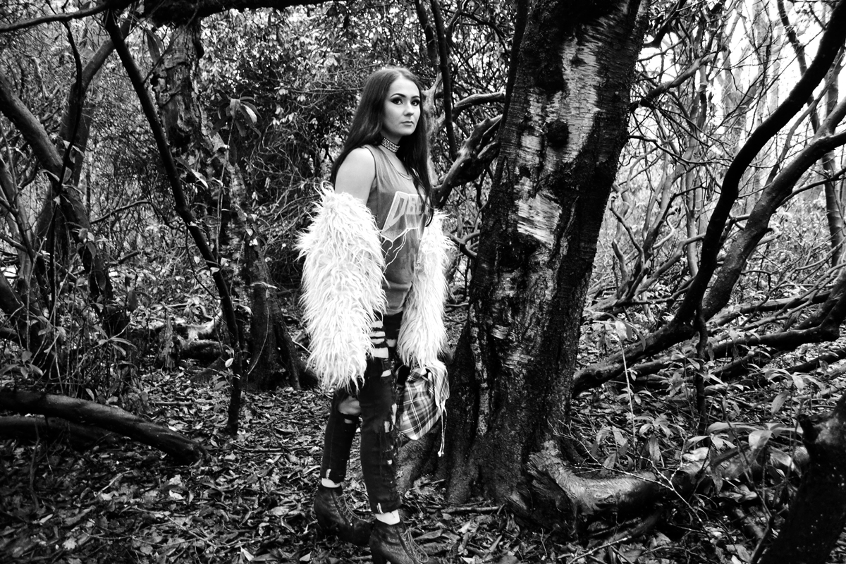 trend editorial glam rock woods grunge style heaton park manchester obey clothing