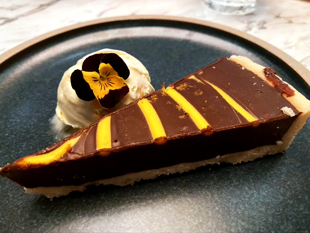 chocolate orange tart cheshire house