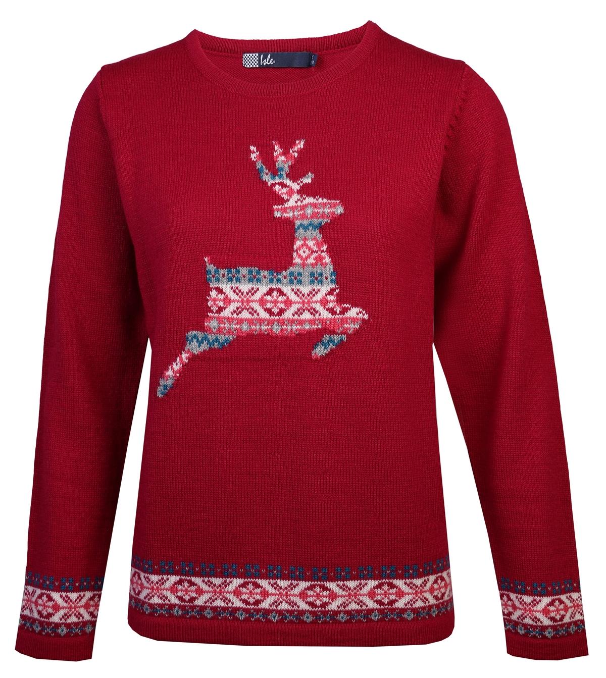 edinburgh woollen mill christmas knit jumper