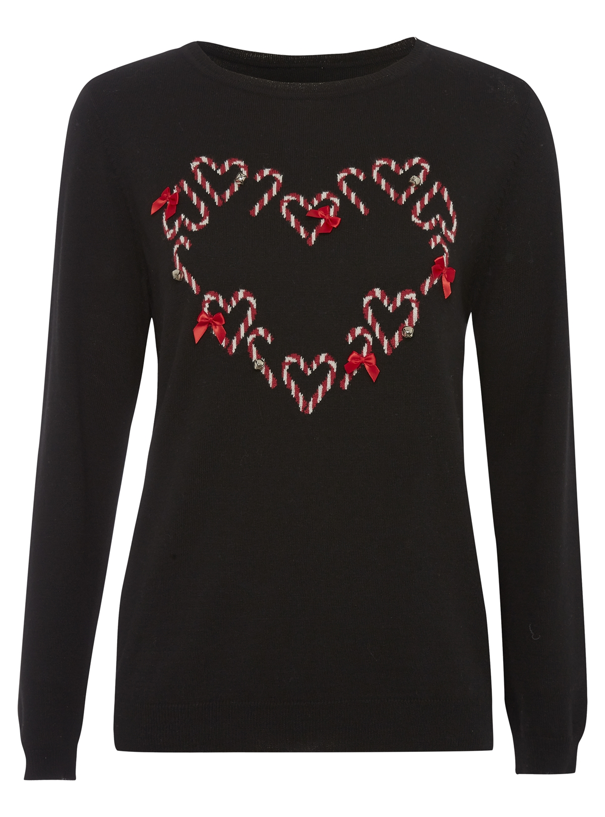 candy cane love heart christmas jumper george at asda