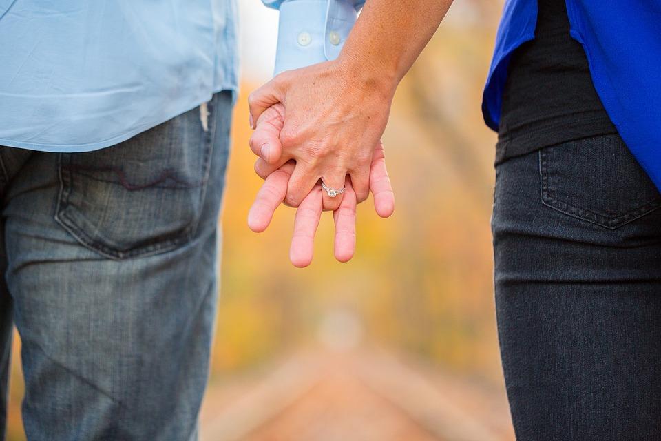 engaged couple wedding