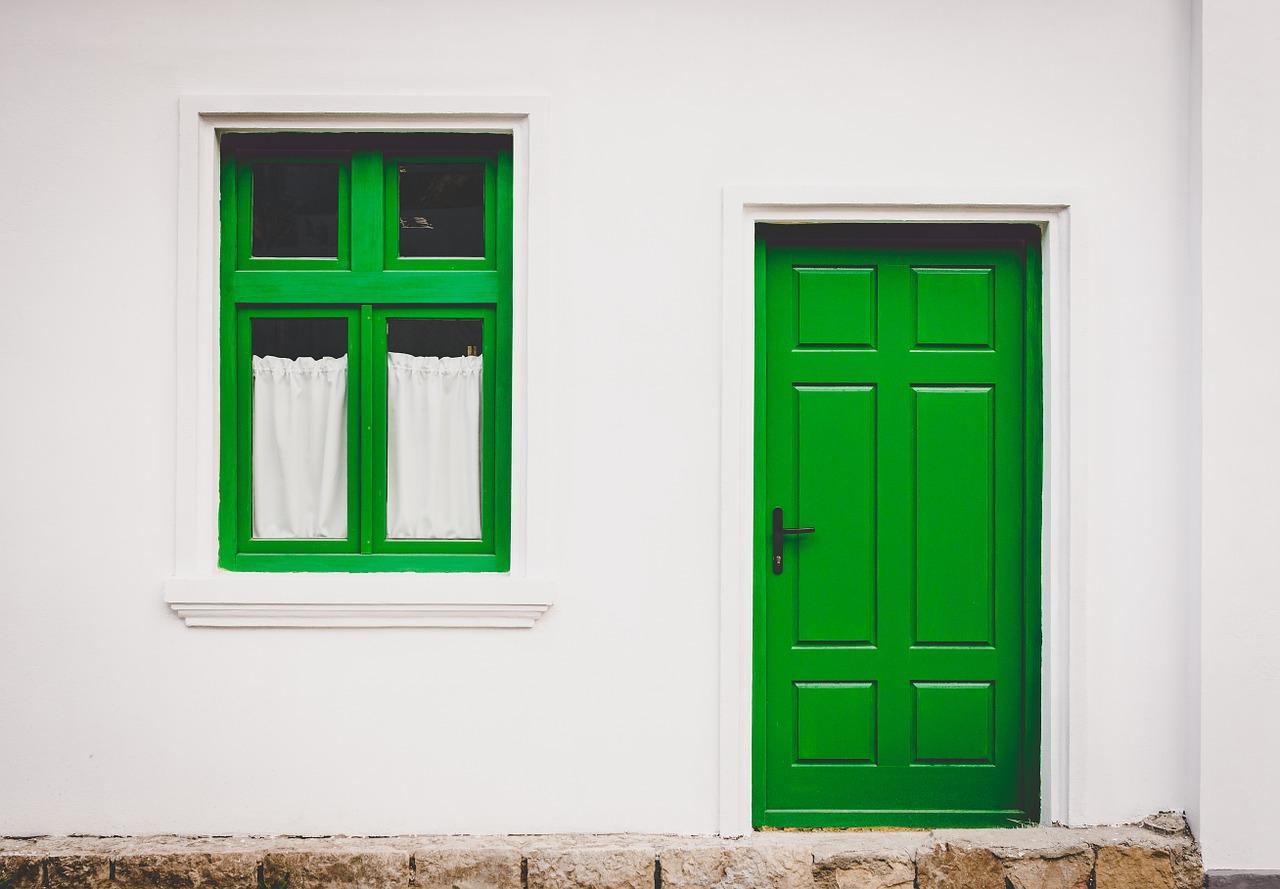 green door house