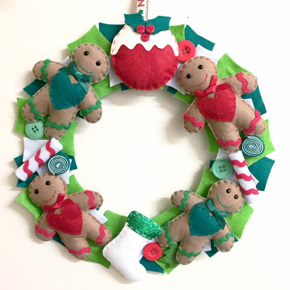 Christmas Competition #6: Win a FuzzyPsCrafts Gingerbread Wreath