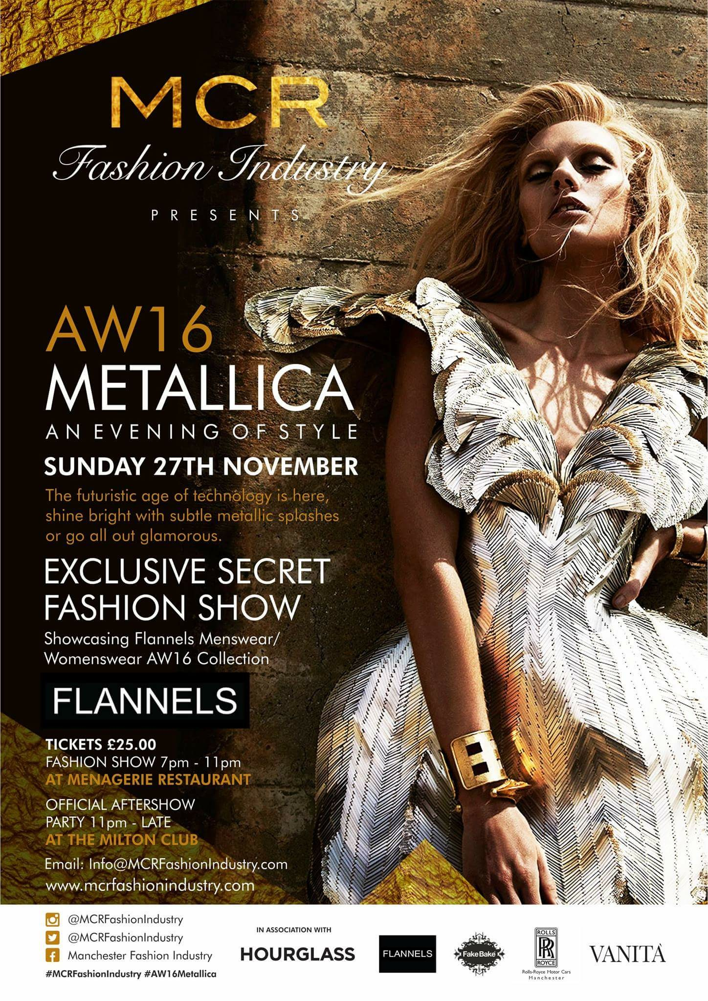 manchester fashion industry mcr hosts menagerie milton club event autumn metallics