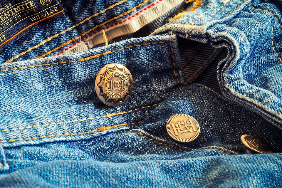 real buttons on jeans