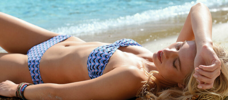 La Redoute summer blue bikini