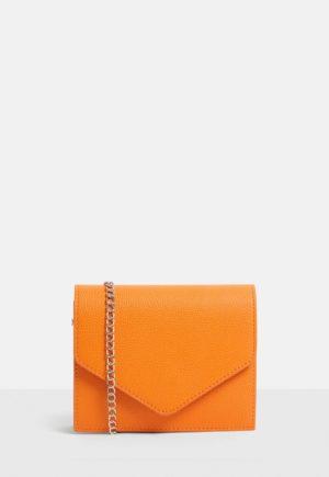 neon orange missguided bag