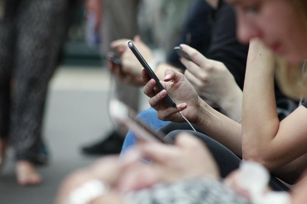 people on phones