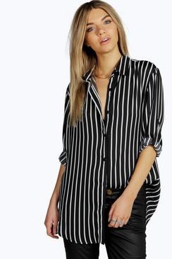 photo 4 boohoo stripe shirt
