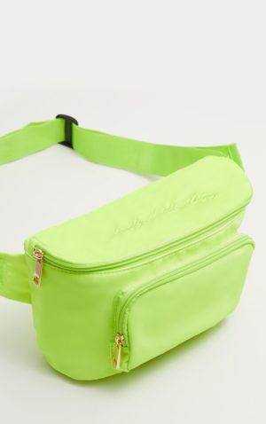 plt neon green bumbag