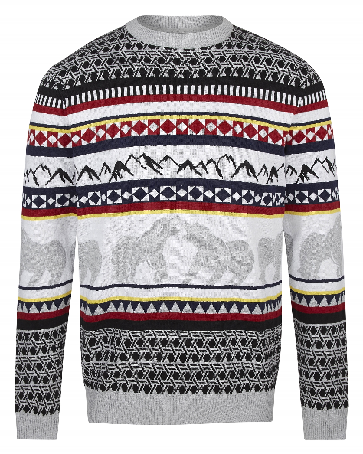 River island patterned knit christmas jumper