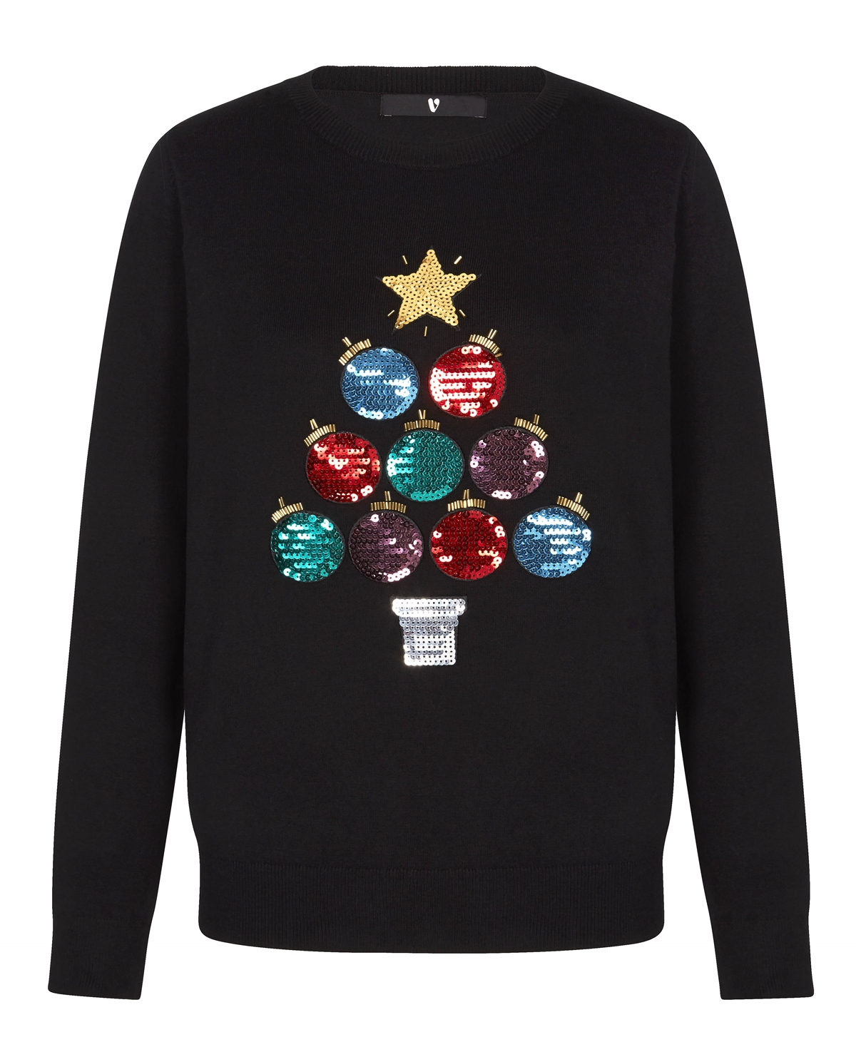 bauble christmas tree design jumper christmas knit v by very