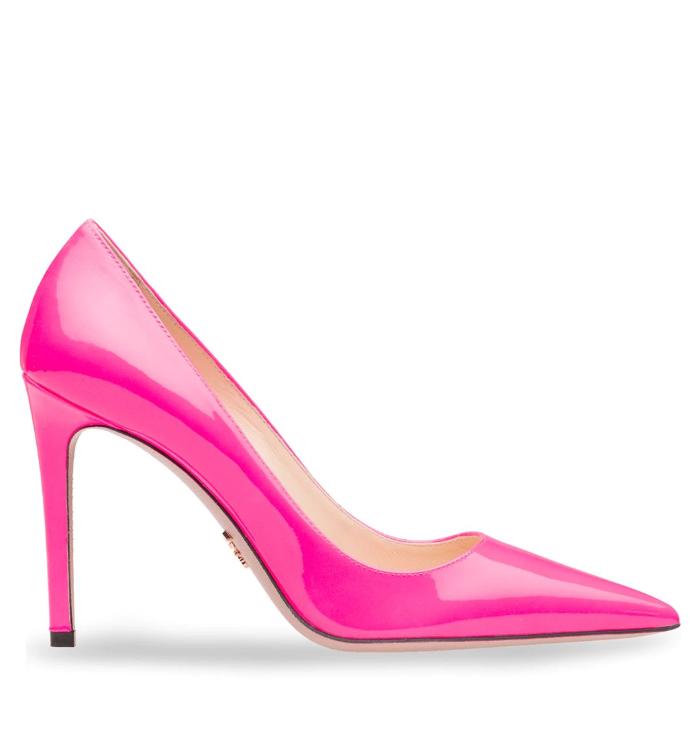 Neon Pink Court Heels - £495 Prada