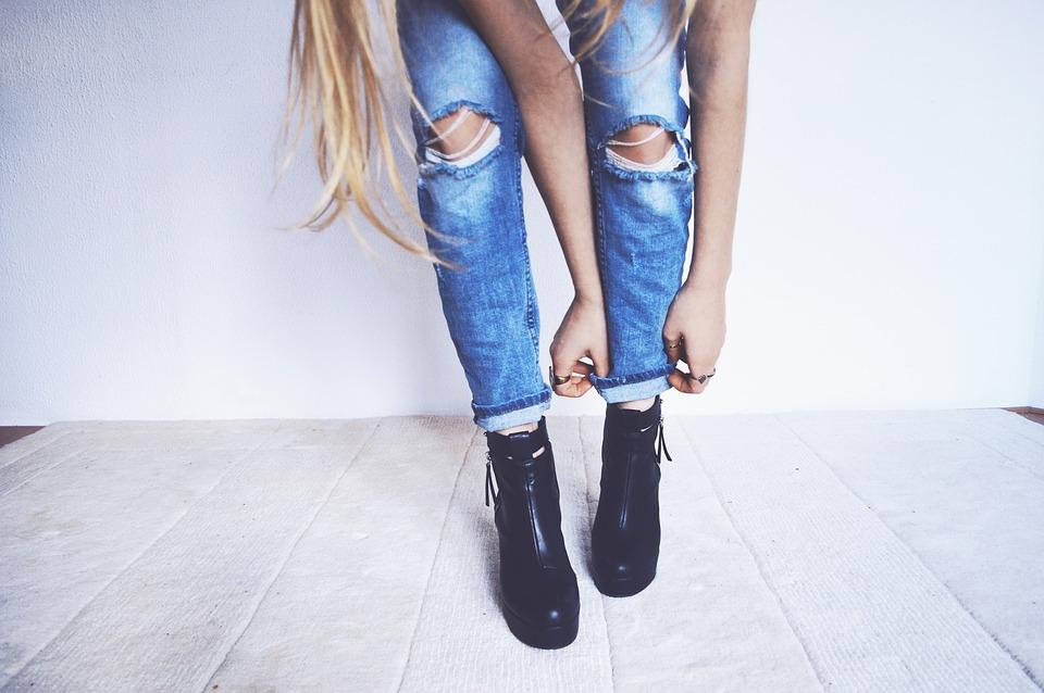 style fashion blonde denim