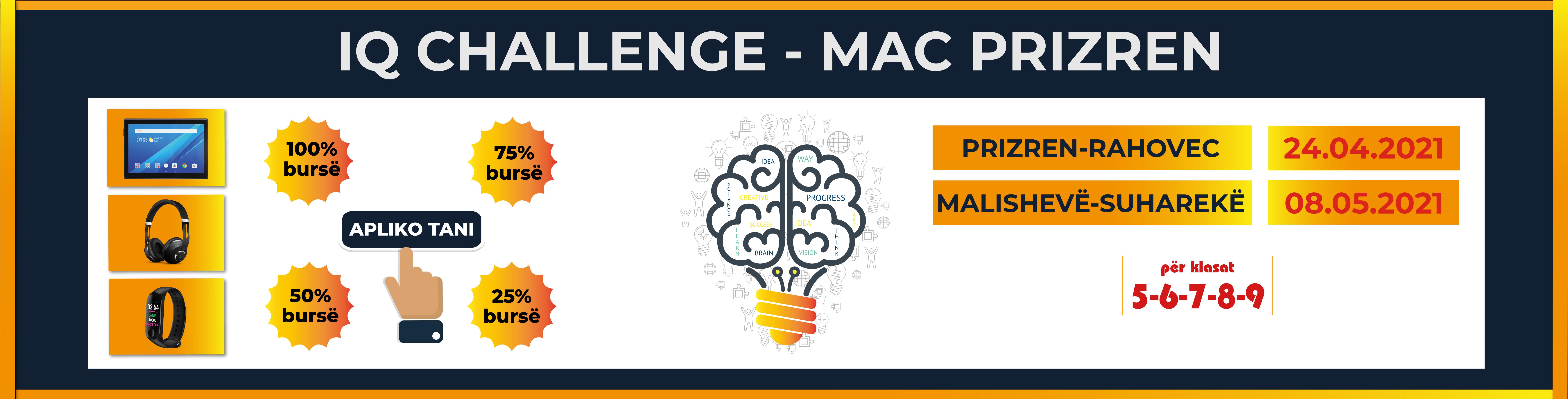 Apply for IQ CHALLENGE - MAC PRIZREN